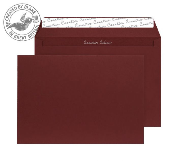 422 Blake Creative Colour Bordeaux Peel & Seal Wallet 229X324mm 120Gm2 Pack 250 Code 422 3P- 422