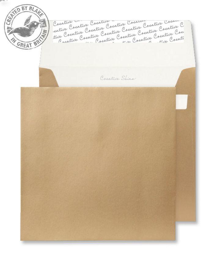 M613 Blake Creative Shine Metallic Gold Peel & Seal Square Wallet 160X160mm 130Gm2 Pack 500 Code M613 3P- M613