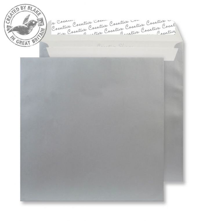 512 Blake Creative Shine Metallic Silver Peel & Seal Square Wallet 220X220mm 130Gm2 Pack 250 Code 512 3P- 512