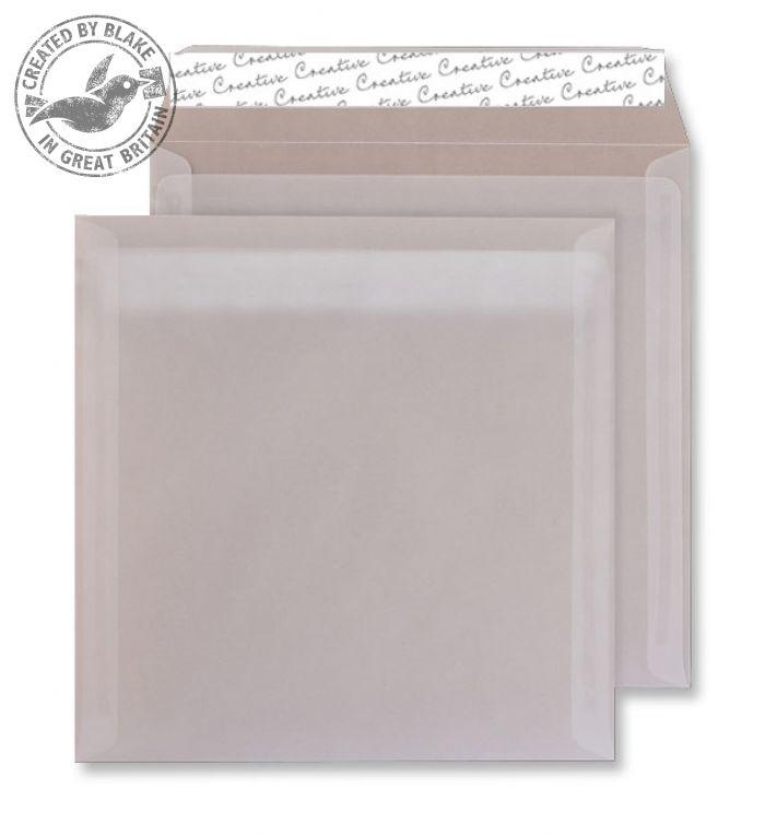 515 Blake Creative Senses Translucent White Peel & Seal Square Wallet 220X220mm 100G Pk250 Code 515 3P- 515