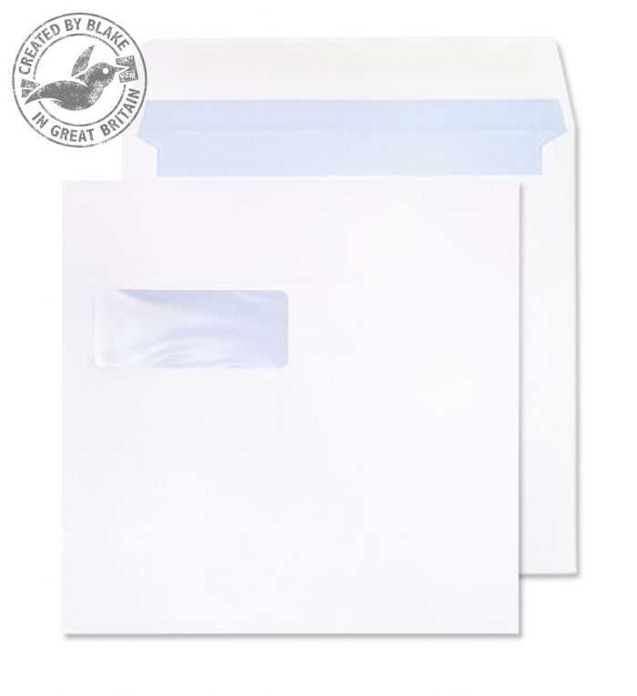 0190W Blake Purely Everyday White Window Gummed Square Wallet 190X190mm 100Gm2 Pack 500 Code 0190W 3P- 0190W
