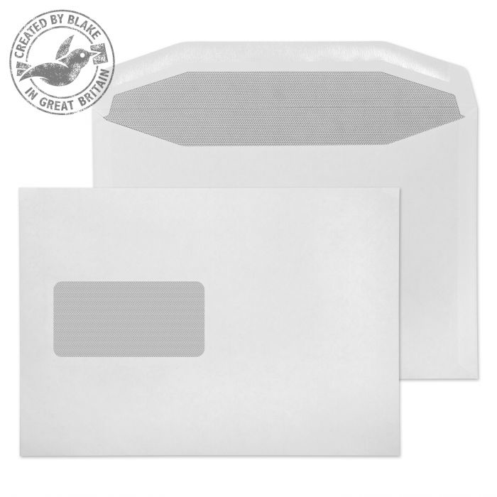 019M Blake Purely Everyday White Window Gummed Mailer 162X235mm 90Gm2 Pack 500 Code 019M 3P- 019M