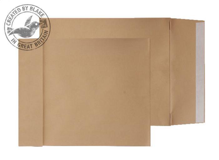 G55501 Blake Purely Packaging Manilla Peel & Seal Gusset Pocket 450X324X30mm 140Gm2 Pack 125 Code G55501 3P- G55501