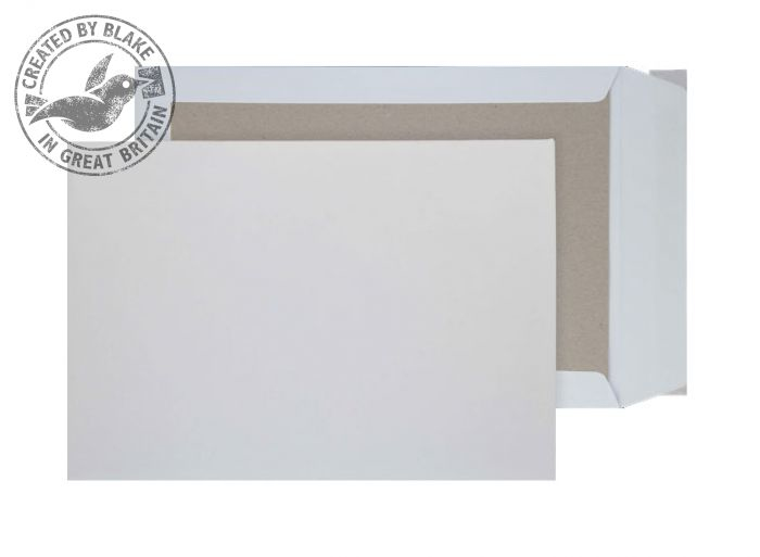 5111 Blake Purely Packaging White Peel & Seal Board Back Pocket 229X162mm 120Gm2 Pack 125 Code 5111 3P- 5111