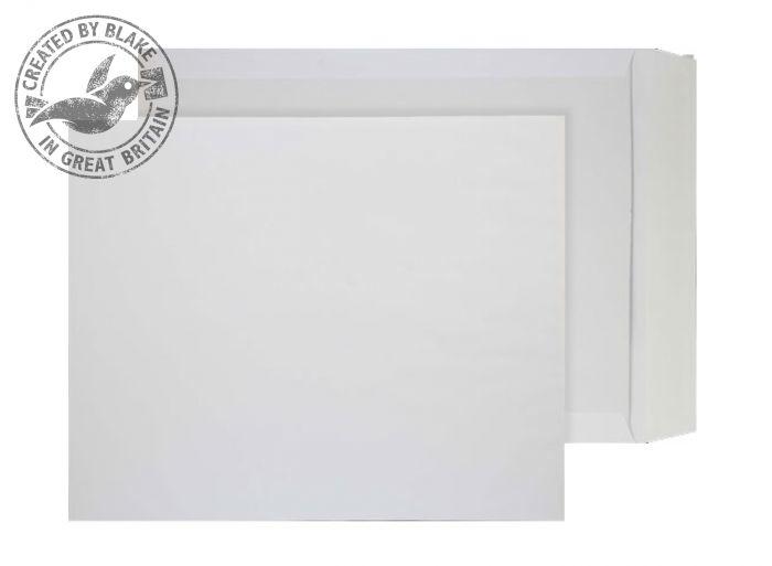 3200 Blake Purely Packaging White Peel & Seal Board Back Pocket 394X318mm 120Gm2 Pack 125 Code 3200 3P- 3200