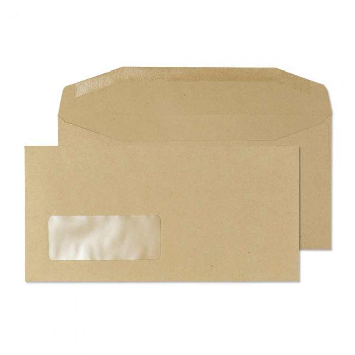 13810 Blake Purely Everyday Manilla Window Gummed Mailer 110X220mm 80Gm2 Pack 1000 Code 13810 3P- 13810
