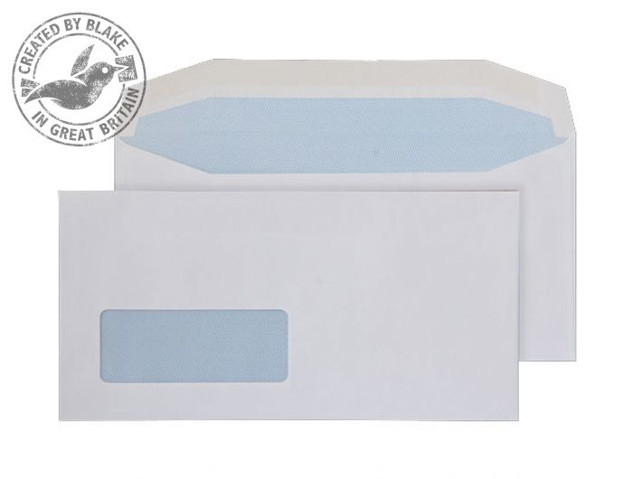 3702 Blake Purely Everyday White Window Gummed Mailer 110X220mm 90Gm2 Pack 1000 Code 3702 3P- 3702