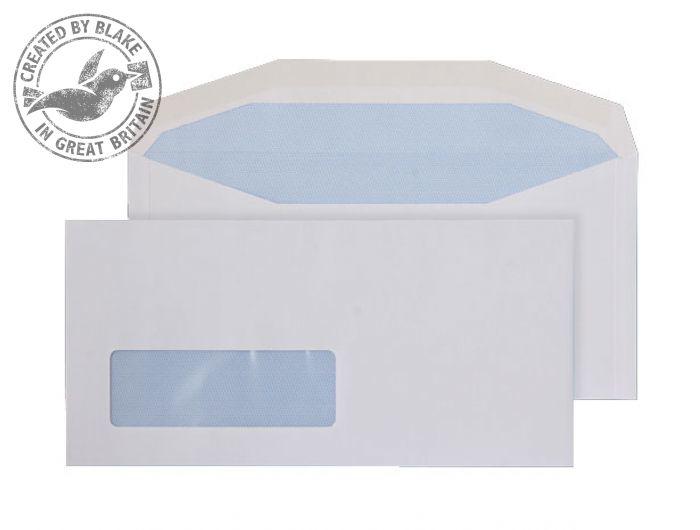 3998LW Blake Purely Everyday White Window Gummed Mailer 114X235mm 90Gm2 Pack 1000 Code 3998Lw 3P- 3998LW