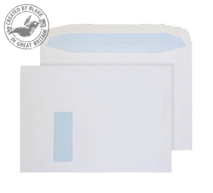 3710W Blake Purely Everyday White Window Gummed Mailer 229X324mm 100Gm2 Pack 250 Code 3710W 3P- 3710W