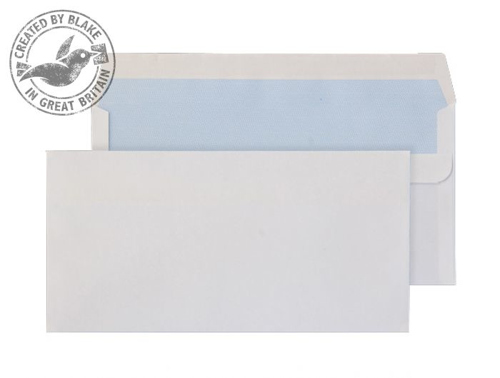 7772 Blake Purely Everyday White Self Seal Wallet 110X220mm 100Gm2 Pack 500 Code 7772 3P- 7772