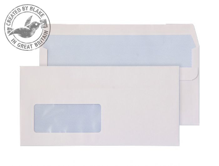 7774 Blake Purely Everyday White Window Self Seal Wallet 110X220mm 100Gm2 Pack 500 Code 7774 3P- 7774