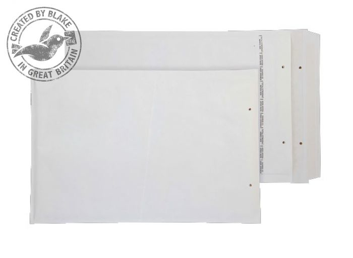 G/4 Blake Purely Packaging White Peel & Seal Padded Bubble Pocket 340X230mm 90Gm2 Pack 100 Code G/4 3P- G/4