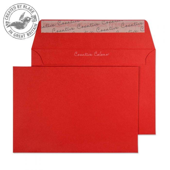106 Blake Creative Colour Pillar Box Red Peel & Seal Wallet 114X162mm 120Gm2 Pack 500 Code 106 3P- 106