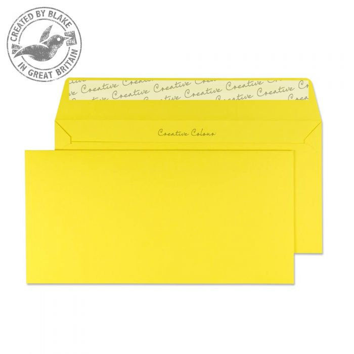 203 Blake Creative Colour Banana Yellow Peel & Seal Wallet 114X229mm 120Gm2 Pack 500 Code 203 3P- 203