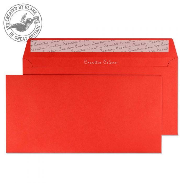 206 Blake Creative Colour Pillar Box Red Peel & Seal Wallet 114X229mm 120Gm2 Pack 500 Code 206 3P- 206