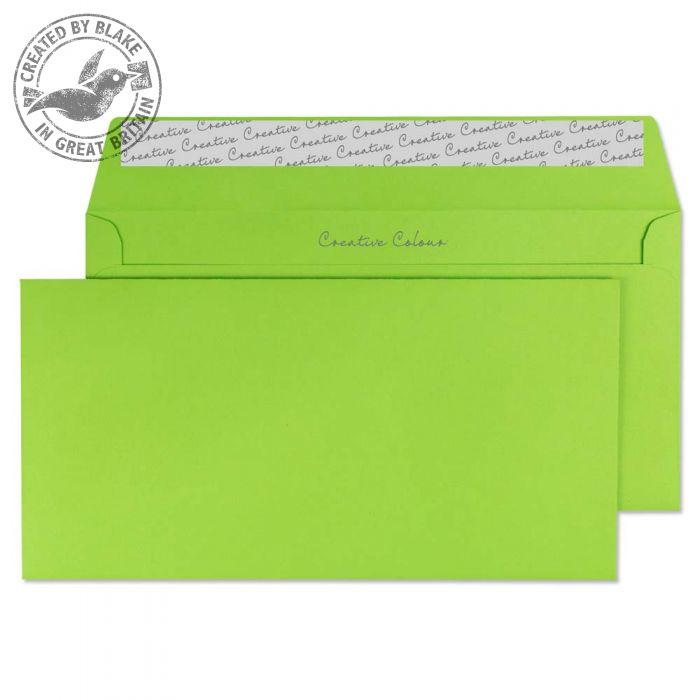 207 Blake Creative Colour Lime Green Peel & Seal Wallet 114X229mm 120Gm2 Pack 500 Code 207 3P- 207