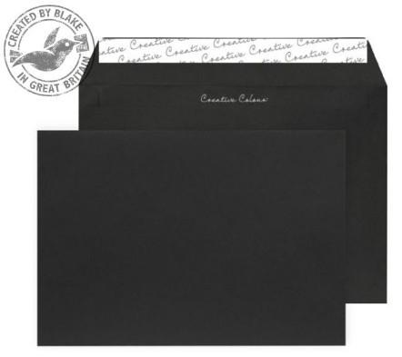 314 Blake Creative Colour Jet Black Peel & Seal Wallet 162X229mm 120Gm2 Pack 500 Code 314 3P- 314