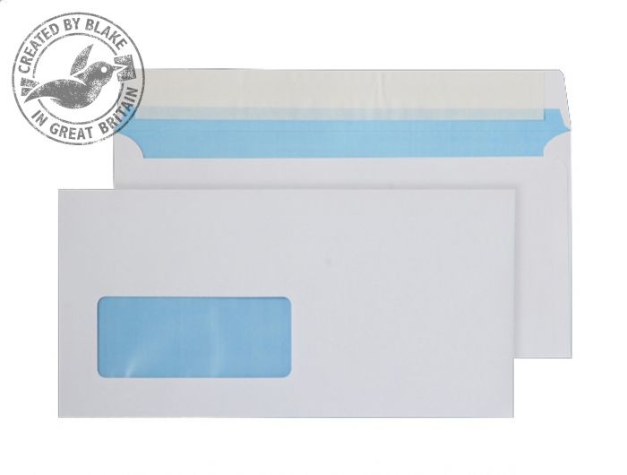 FSC067 Blake Purely Environmental White Window Peel & Seal Wallet 110X220mm 110Gm2 Pack 500 Code Fsc067 3P- FSC067