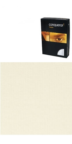 20261 Conqueror Paper Texture Vellum Laid FSC4 A4 100Gm2 Watermarked Pack 500- 20261