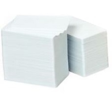 Zebra - Ait_cdsp_c5_1            Card Food Safe Pvc 30 Mil           Box Of 500 White/white Glossy       800050-167