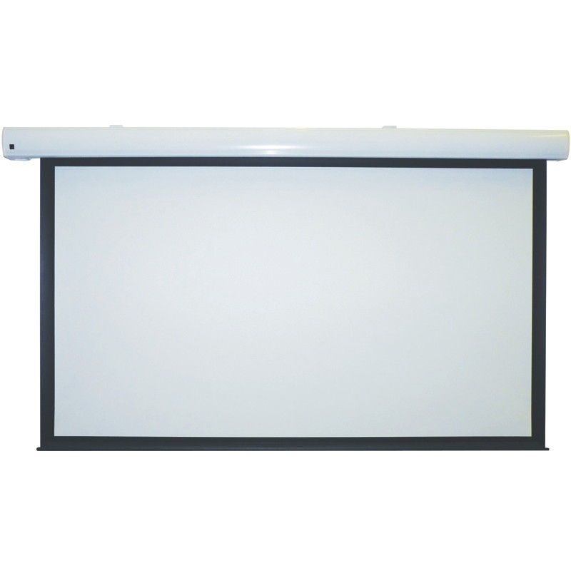 Metroplan Eyeline Pro Electric Screens - Projection Screen - Ceiling Mountable, Wall Mountable - Motorised - 92 In (233 Cm) - 16:9 - Crisp Matte White - White Powder Coat SEW20 - C2000