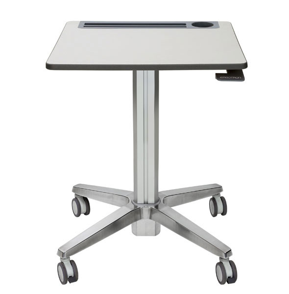 Ergotron                         Learnfit 16in Travel Adjustble      Standing Desk Clear Anodized        24-547-003