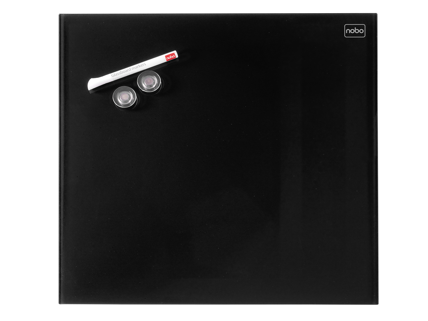 acco Nobo Diamond Drywipe Board Magnetic 450x450mm Black Dd 1903951 - AD01