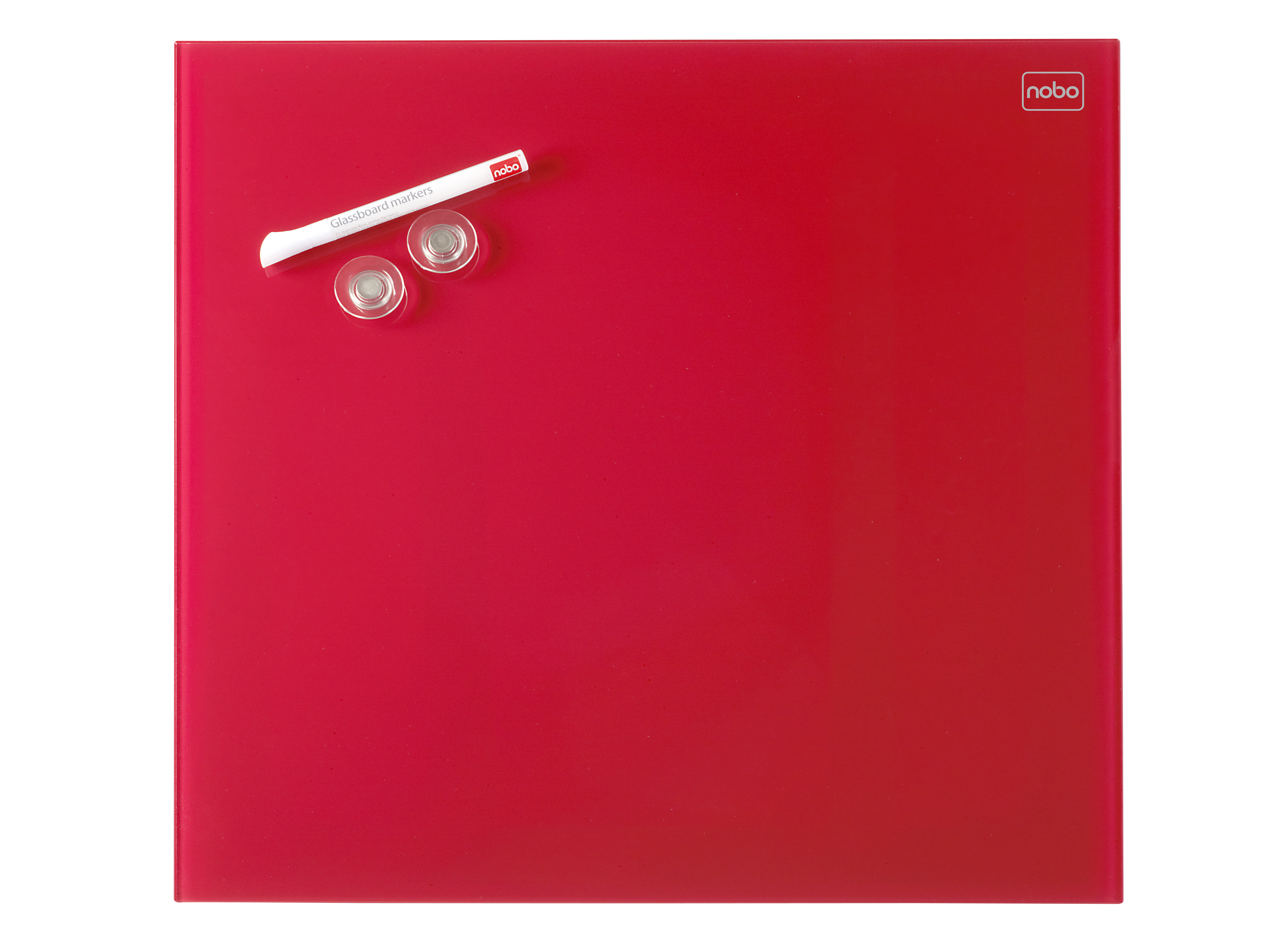 acco Nobo Diamond Drywipe Board Magnetic 300x300mm Red Dd 1903954 - AD01