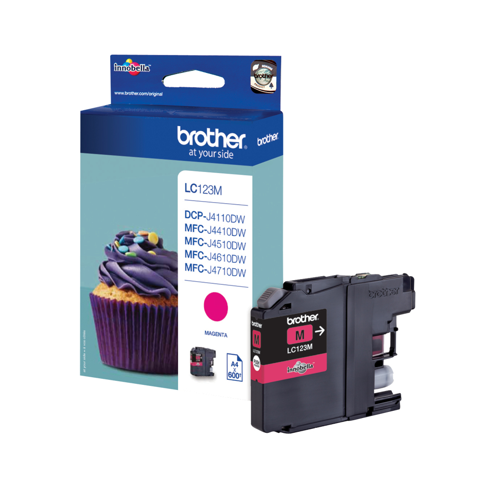 Brolc123m      Brother Lc123 Magenta          Ink Cartridge                                                - UF01