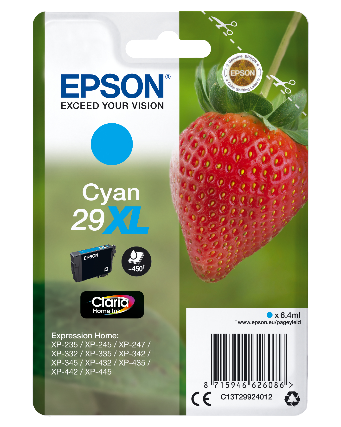 Cyan 29xl Claria Home Ink C13t29924012 - WC01