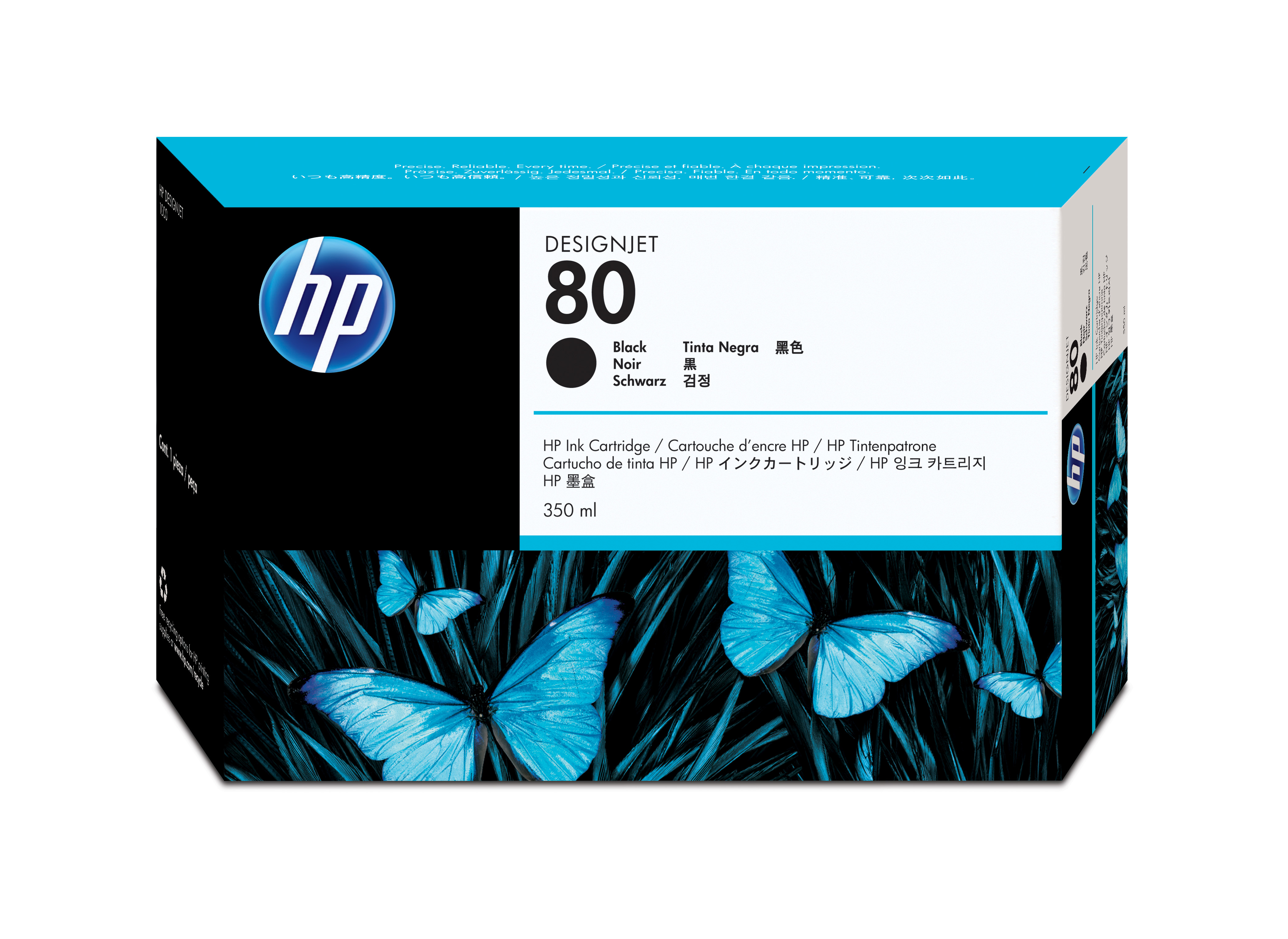 Hp Black Ink Cartridge No.80 (350ml) C4871a - WC01