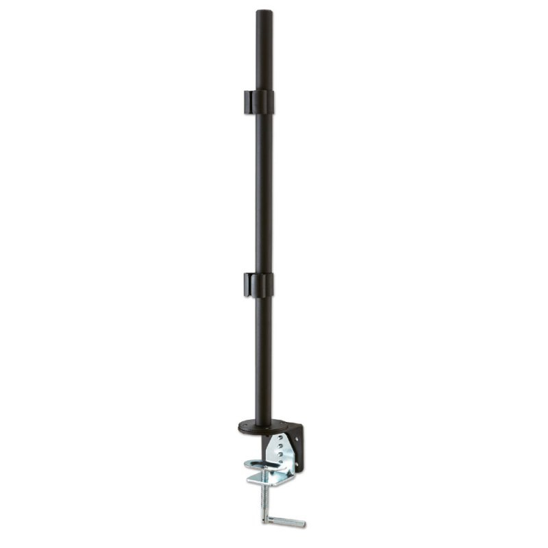 40950 lindy 700mm Pole With Desk Clamp, Black - NA01