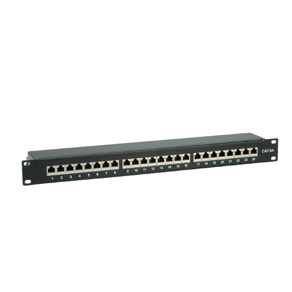 26.99.0360 VALUE 19'' PatchPanel Cat6a. 24 Ports. STP. Black  Factory Sealed