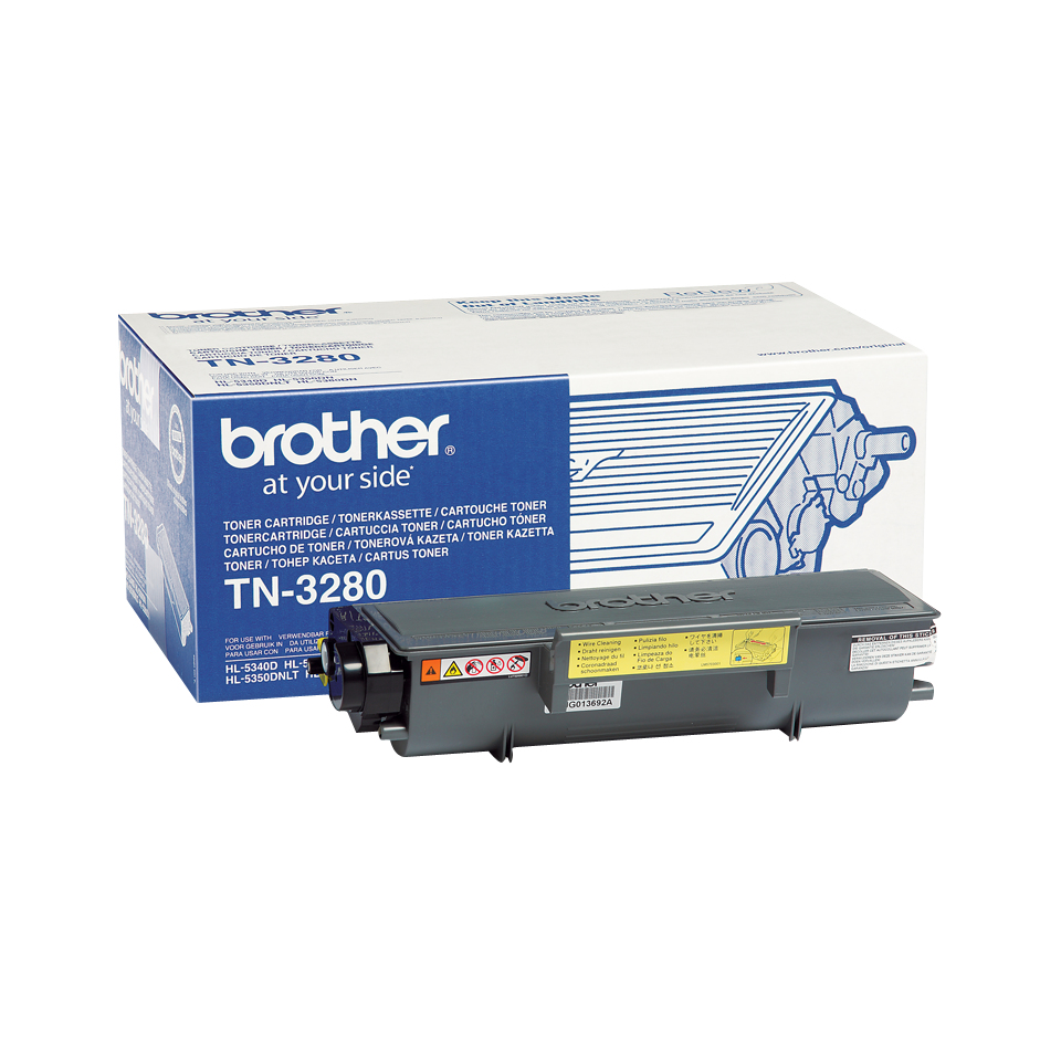 Brotn3280      Brother Tn3280 Black Toner     8000 Pages @ 5% Coverage                                     - UF01