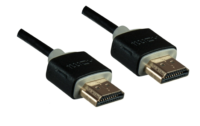 MO-HDMI-2S Dinic HDMI1.4 Slim Cable. AWG36. M/M. Black. 2.0m Factory Sealed