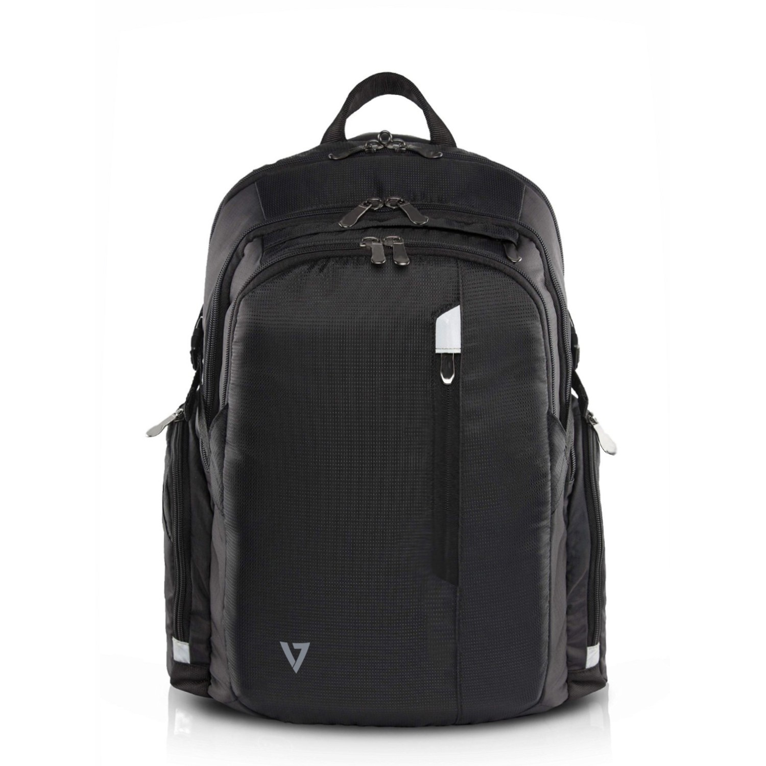 V7 - Bags                        Backpack Elite 15.6in Black         Water Res/air Flow/travel Strap     Cbpx1-9e