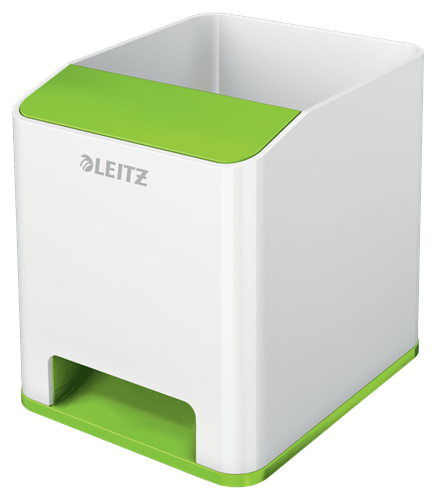 acco Leitz Wow Sound Pen Holder Dual Colour White/green 53631054 - AD01