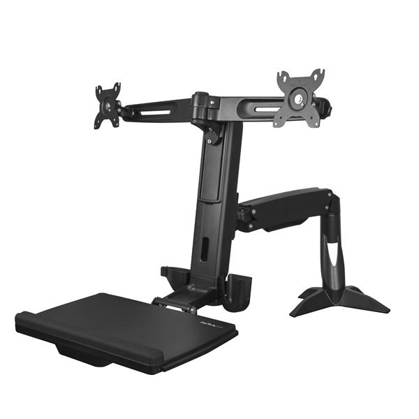 startech Sit Stand Dual Monitor Arm Up To 24in Armstscp2 - AD01