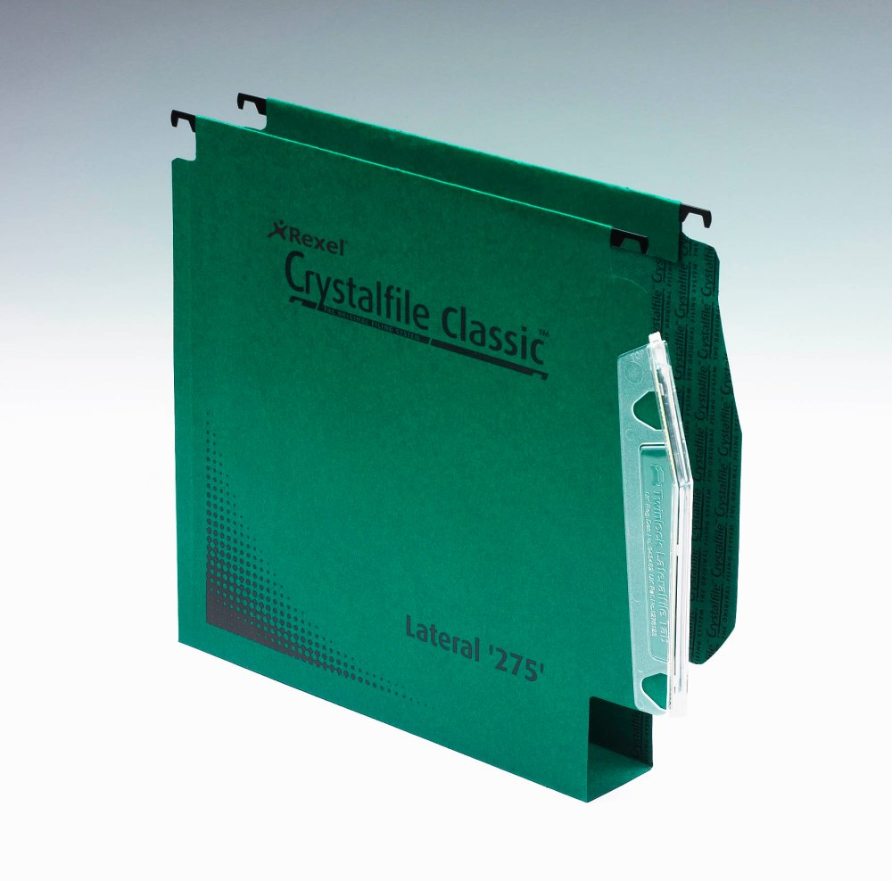 acco Twinlock Crystalfile Lateral File 50mm Extra Green Bx50 Dd 71762 - AD01