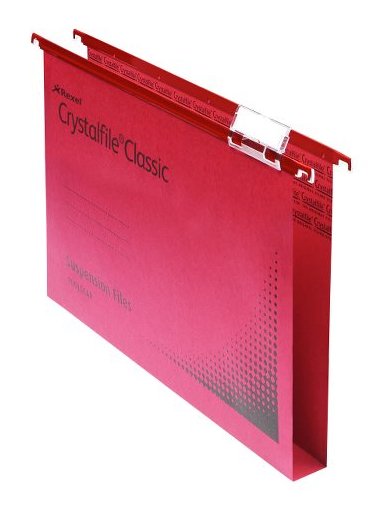 acco Crystalfile Susp File Reinforced Wide Base 30mm Red Bx50 Dd 70622 - AD01