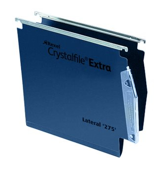 acco Twinlock Crystalfile Extra Lateral Susp File Blue Bx25 Dd 70639 - AD01