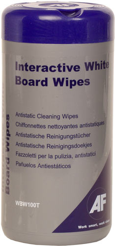 Afl Interactive Whiteboard Wipes Wbw100t - WC01