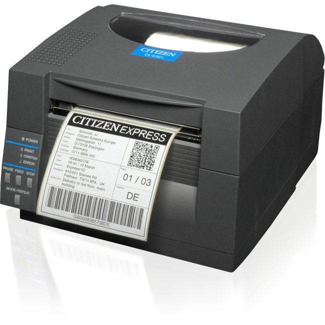 1000815 Citizen Cl-s521 Label Printer, Serial/USB - Refurbished