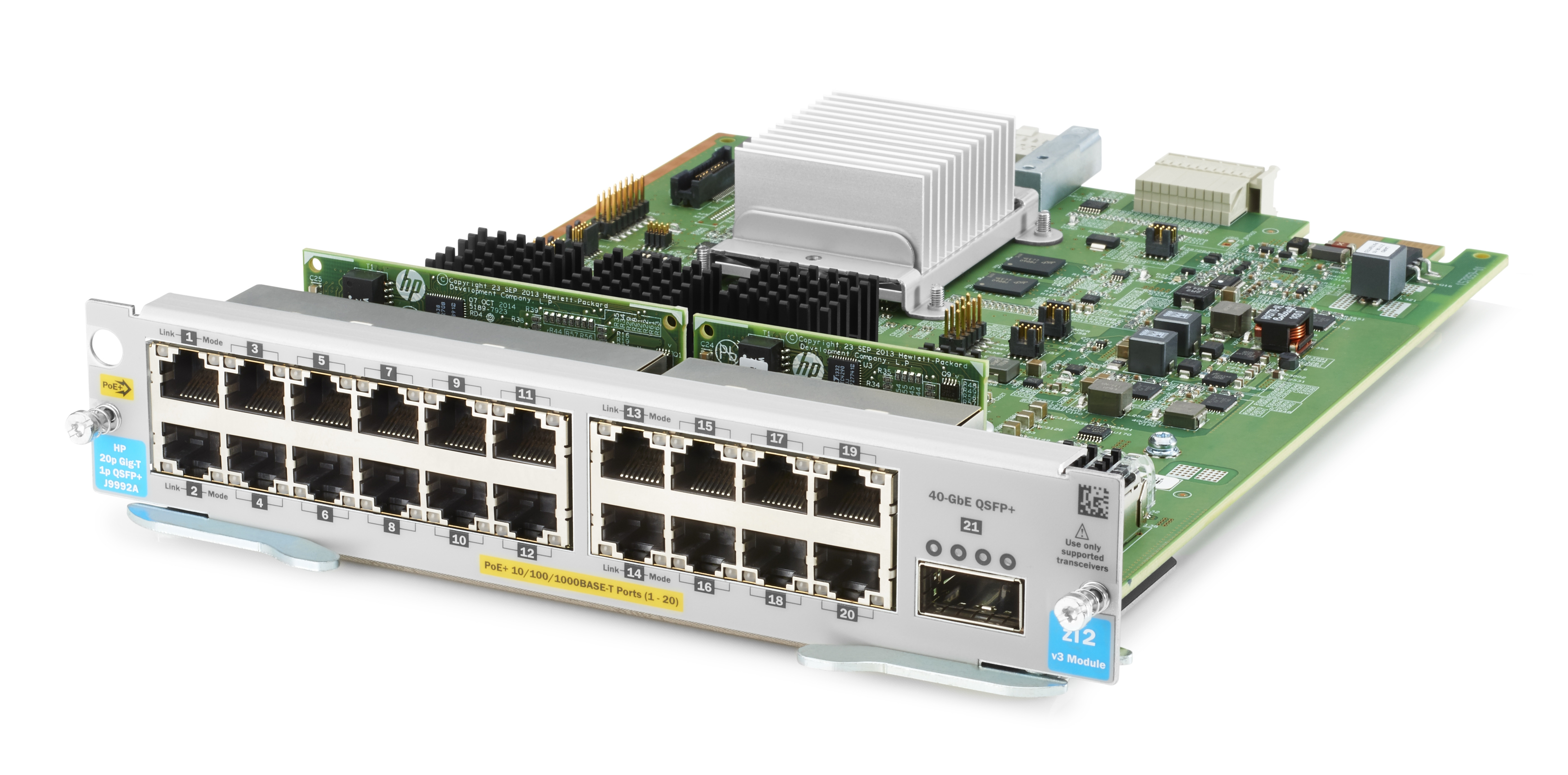 Hewlett Packard Enterprise Hpe - Expansion Module - Gigabit Ethernet (poe+) X 20 + 40 Gigabit Qsfp+ X 1 - For Hpe Aruba 5406r  5406r 16  5406r 44  5406r 8-port  5406r Zl2  5412r  5412r 92  5412r Zl2 J9992a - xep01
