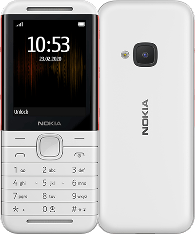 Nokia - Mobile Phones            Nokia 5310 (2020) 2.4in 8mb         Dual Sim White/red Ta-1212       In 16pisx01b04