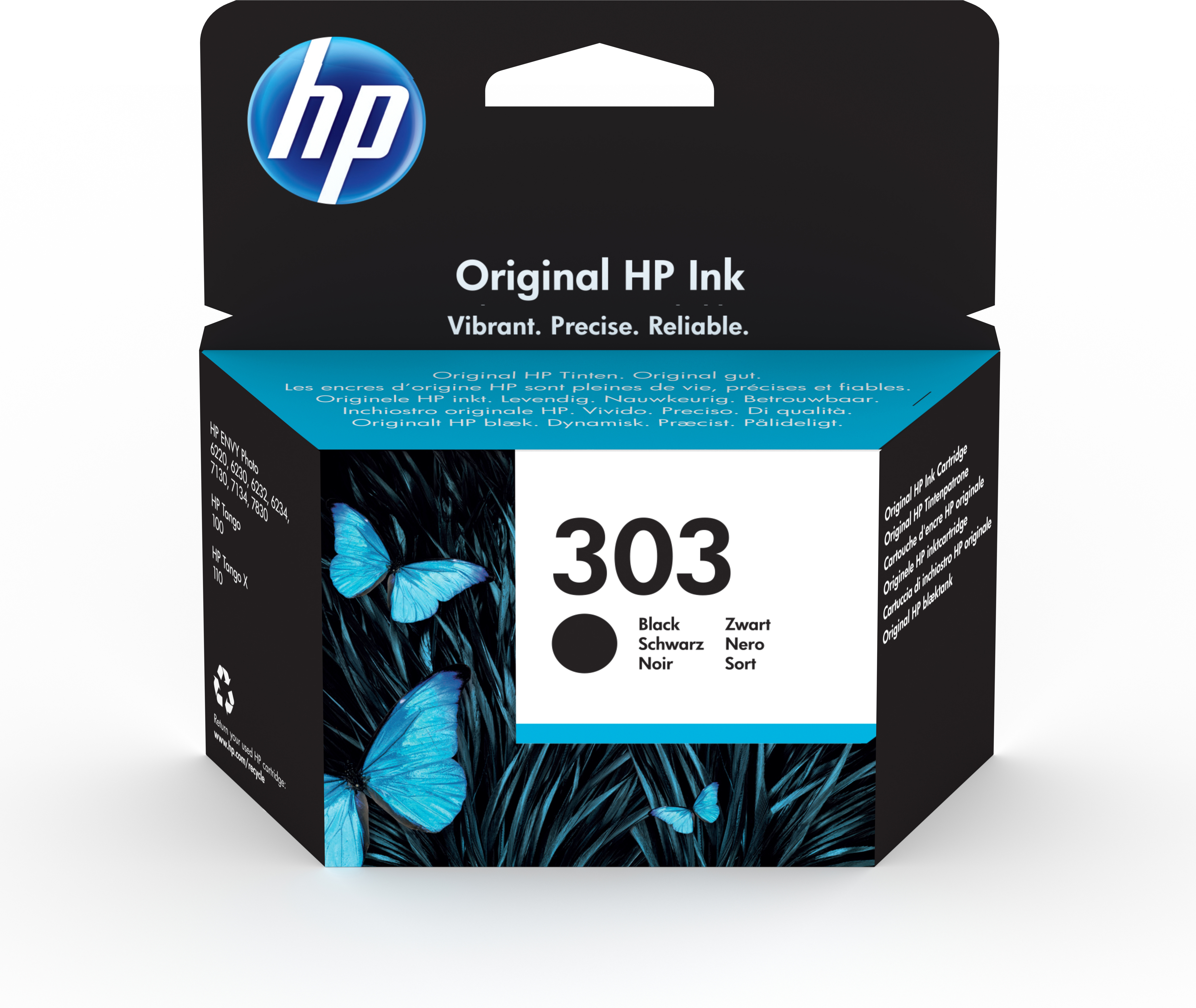 Hpt6n02ae      Hp 303 Black Ink Cartridge     Hp 303 Black Ink Cartridge                                   - UF01
