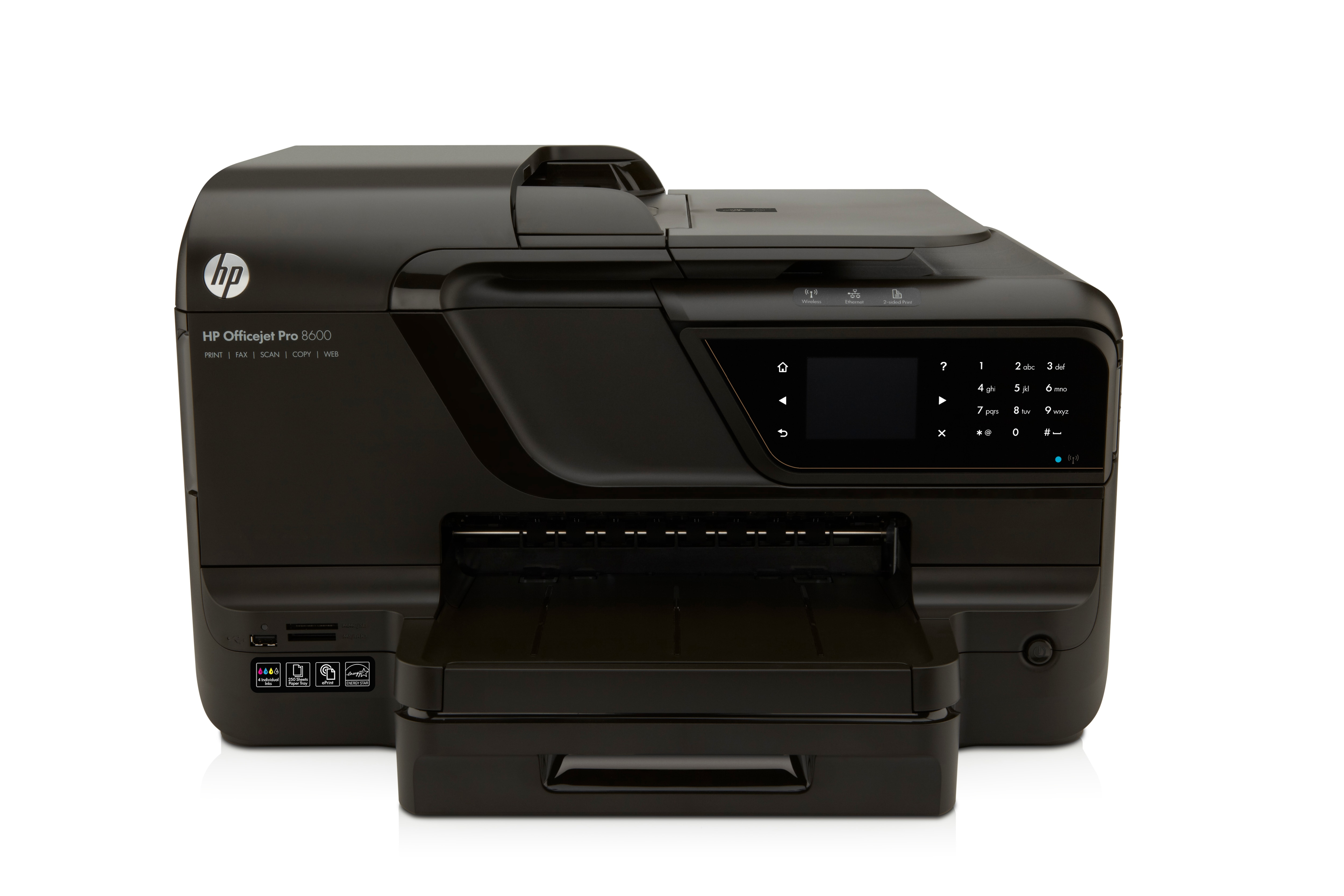 CM749A HP OfficeJet Pro 8600 e-All-in-One (Print, Scan, Copy, Fax, Web) Printer - Refurbished