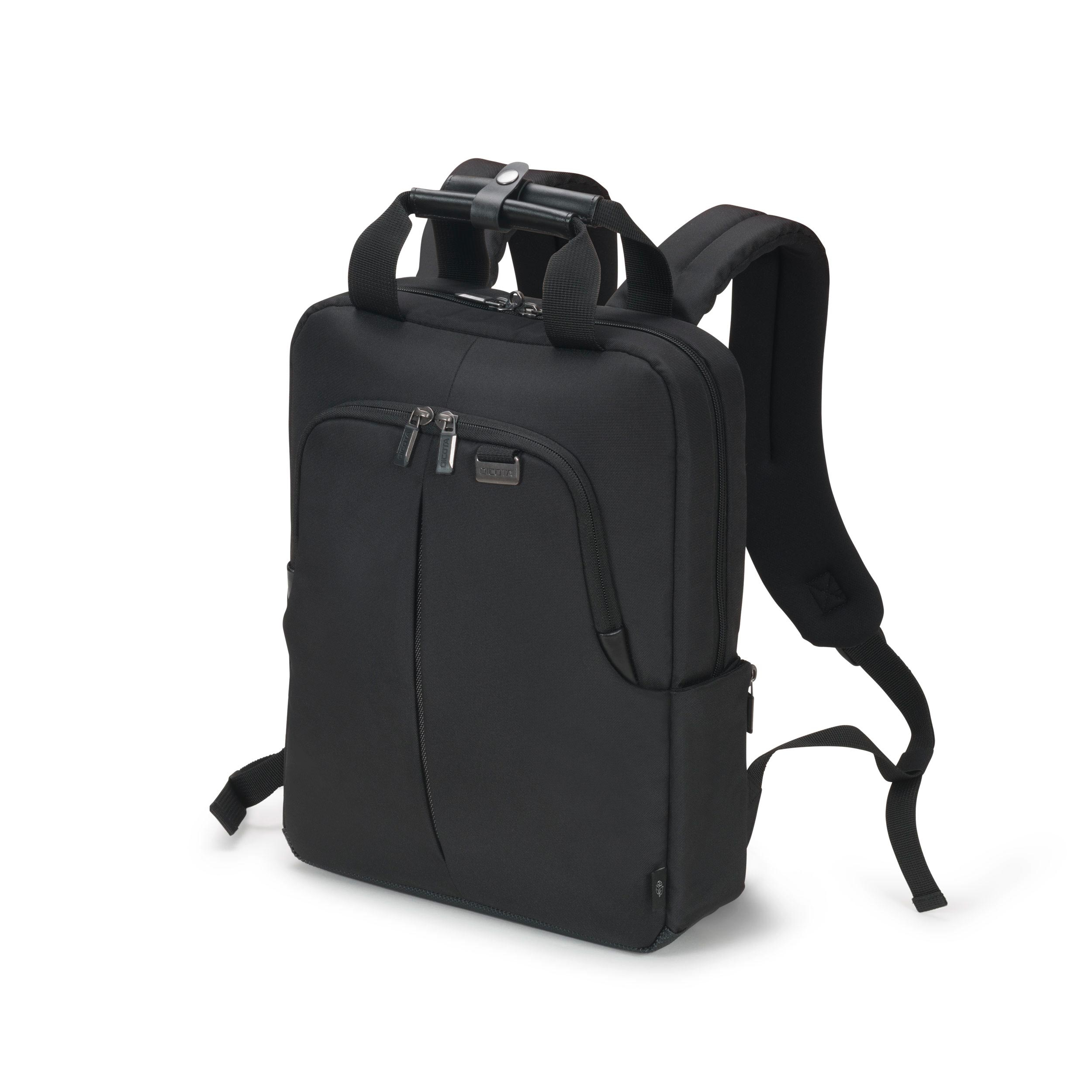 Dicota - Consignment             Eco Backpack Slim Pro 12-14.1       Black                               D31820