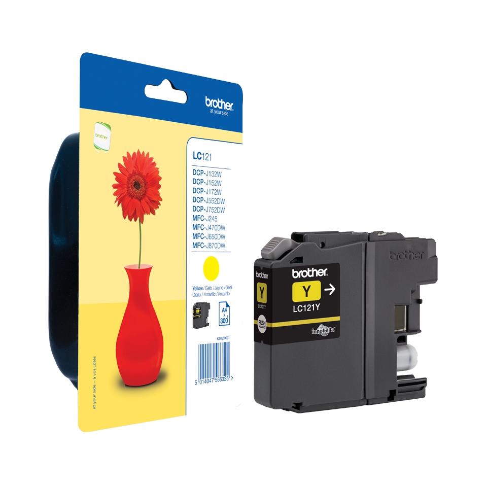 Lc121y brother Brother Lc121 Standard Yellow Ink - AD01