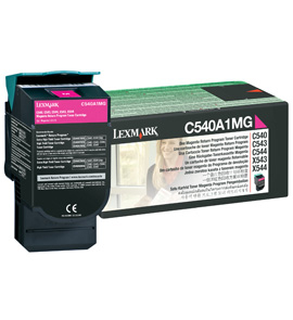 Lex0c540a1mg   Lexmark C540 Magenta Toner     Return Cartridge                                             - UF01